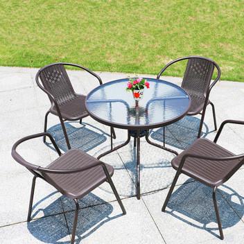 厂家直销编藤户外桌椅庭院休闲咖啡藤编桌椅组合 桌椅组合套件