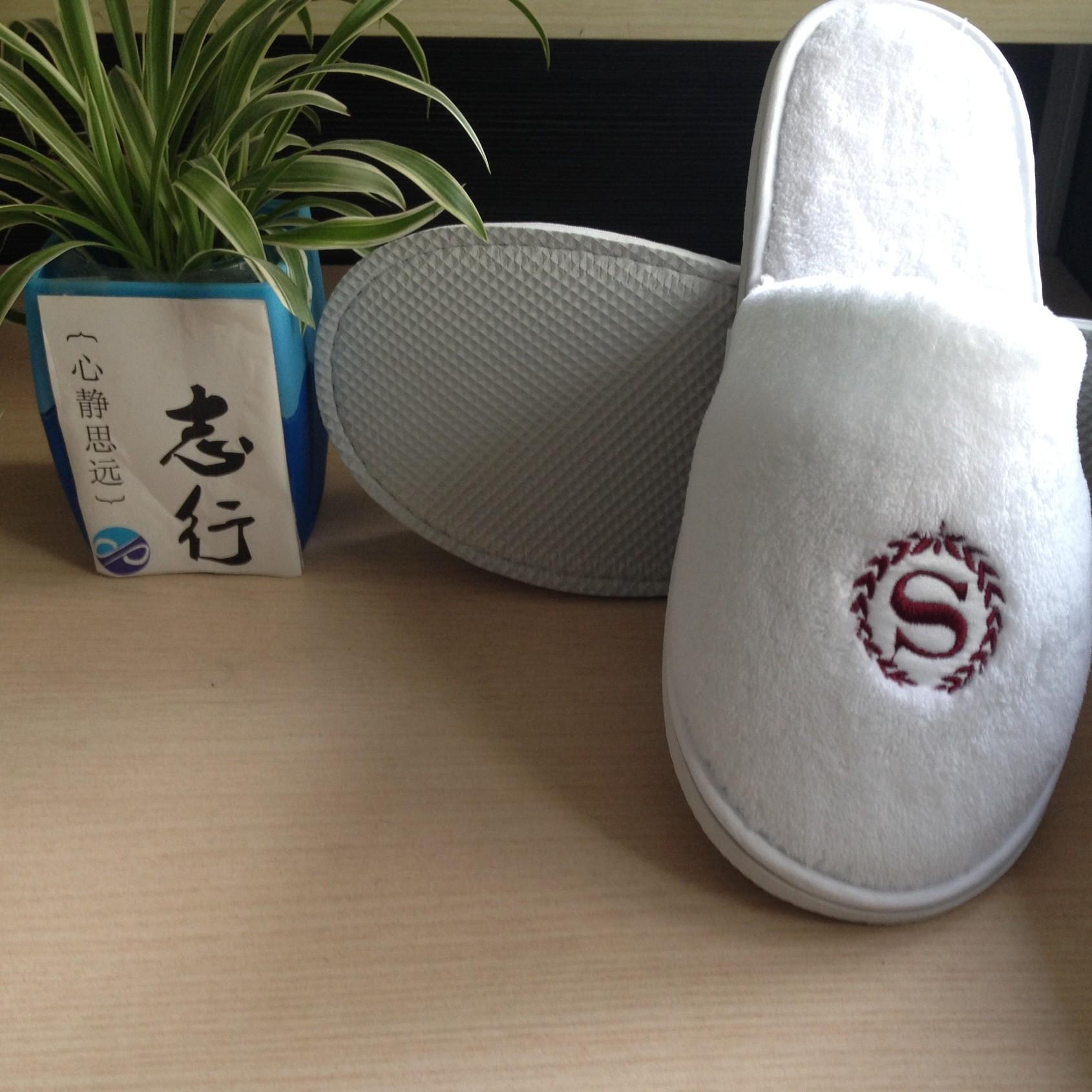 级酒店客房SPA会所高档拖鞋 可水洗非一次性珊瑚绒拖鞋