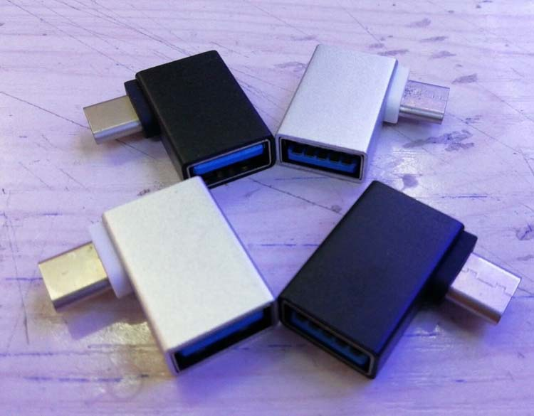 type-c转otg转接头直角90度手机接鼠标键盘传输u盘