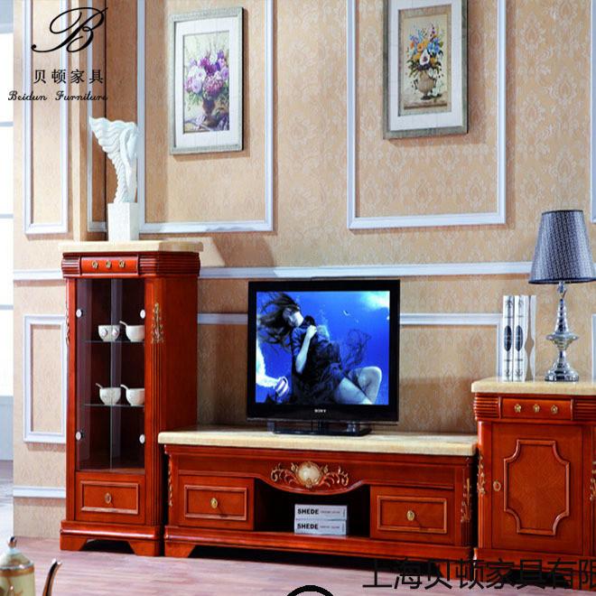 厂家订制 卧室电视柜 实木电视柜组合电视墙 电视柜客厅