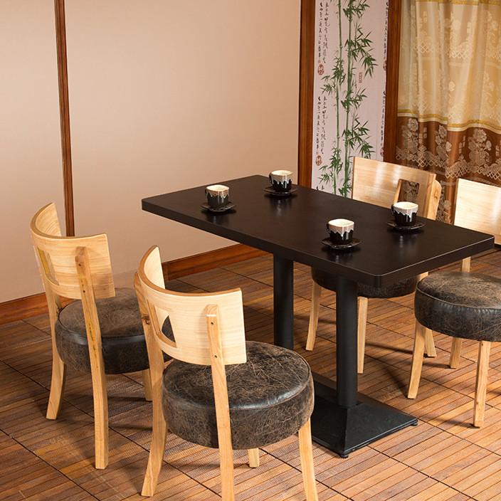 简约咖啡厅桌椅 西餐厅甜品奶茶店桌椅组合 实木茶餐厅桌椅 复古
