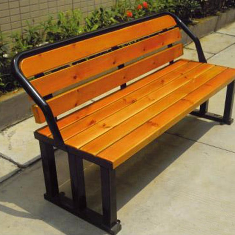 Solid wood outdoor bench quality assurance 1.8m leisure bench kaifeng solid wood leisure chair garden chair solid wood leisure chair