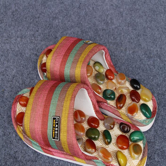鹅卵石足底按摩鞋送父母穴位保健拖鞋夏季情侣鞋居家防滑家用鞋子