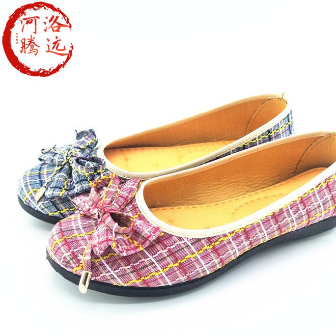新款老北京布鞋女休闲时尚舒适蝴蝶结时装鞋中老年妈妈鞋厂家直销