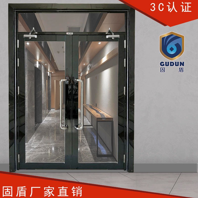 Black titanium brushed glass fire doors fire glass doors solid shield stainless steel fire doors manufacturers direct sales
