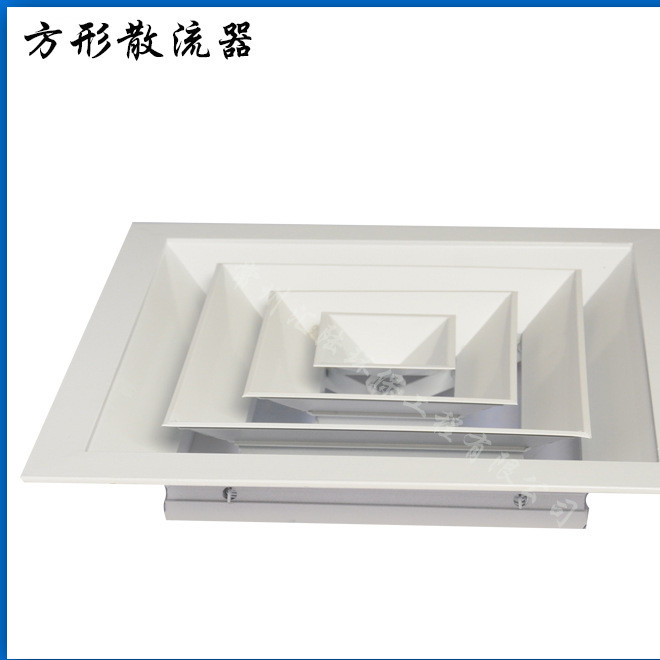 Professional supply square diffuser ABS air conditioning louver fresh air system air outlet exhaust equipment