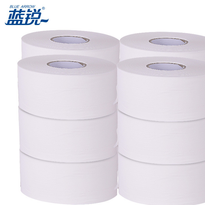 Lanrui wood pulp business large roll paper hotel hotel zhenbao large pan toilet paper 650g wholesale manufacturers