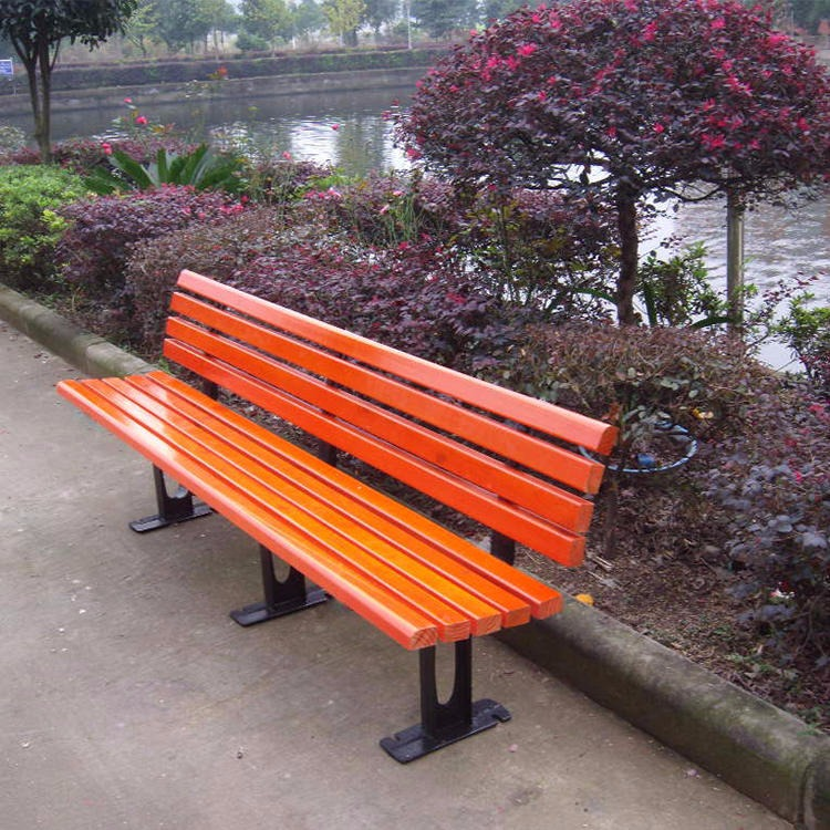 Park chair anticorrosive wood bar chair professional production xingda kang anticorrosive wood bench square plastic wood back chair solid wood leisure chair