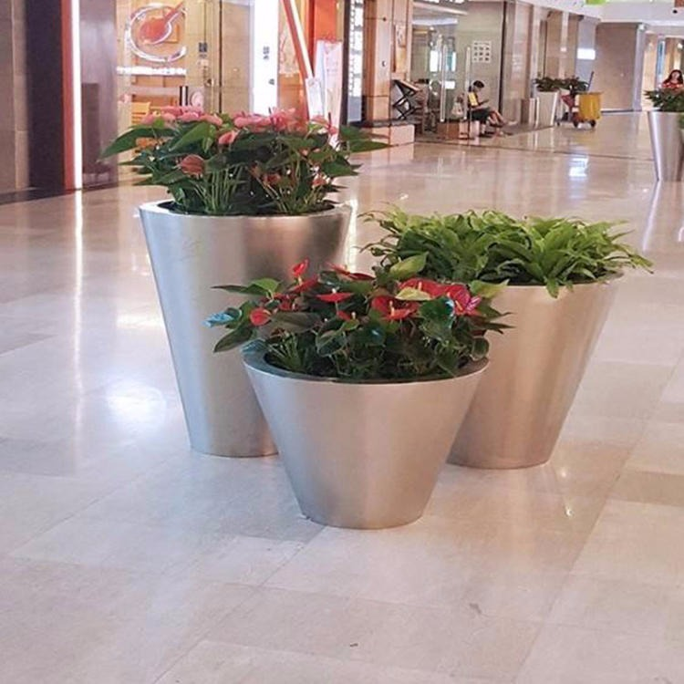 Metal flower box big flower box manufacturers direct stainless steel flower bucket street flower box stainless steel flower box