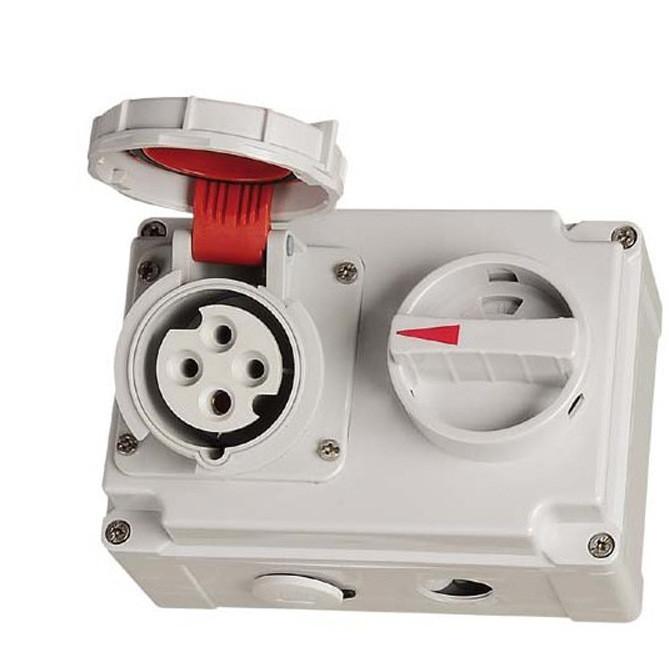 IP67带开关工业插座,机械联锁插座 CEE/IEC国际标准