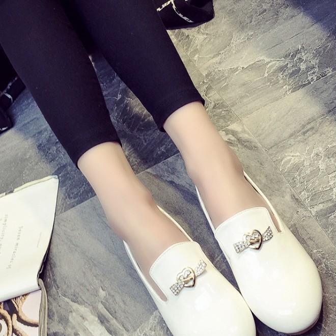 新春款夏季蝴蝶结园头平跟鞋日系四季舒适上班女单鞋女鞋