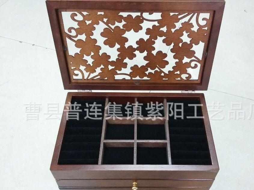 梳妆台 木质化妆品收纳盒 抽屉式木制护肤品首饰储物收纳橱柜