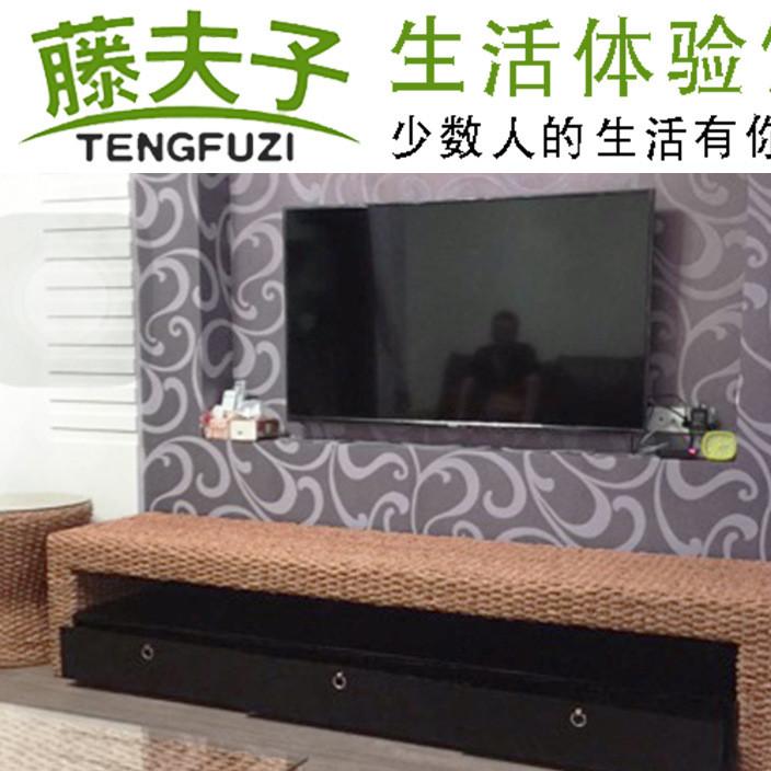 藤夫子 藤编电视柜客厅组合电视柜藤编家具藤艺电视柜