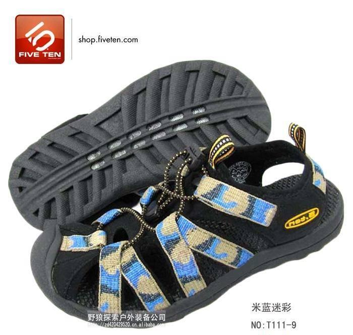 Summer outdoor sports leisure 5. Ten brand women's beach shoes, women's sandals, breathable bag, non-slip wading shoes