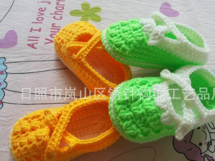厂家加工定做手钩婴儿鞋、婴儿帽手钩儿童衫儿童披肩质量保证