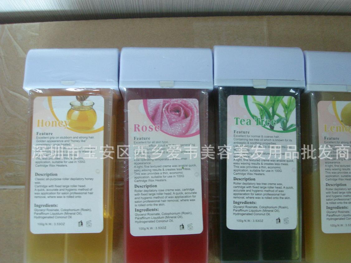 美容专用脱毛蜡 rollen wax 100G 玫瑰茶树蜂蜜柠檬味道