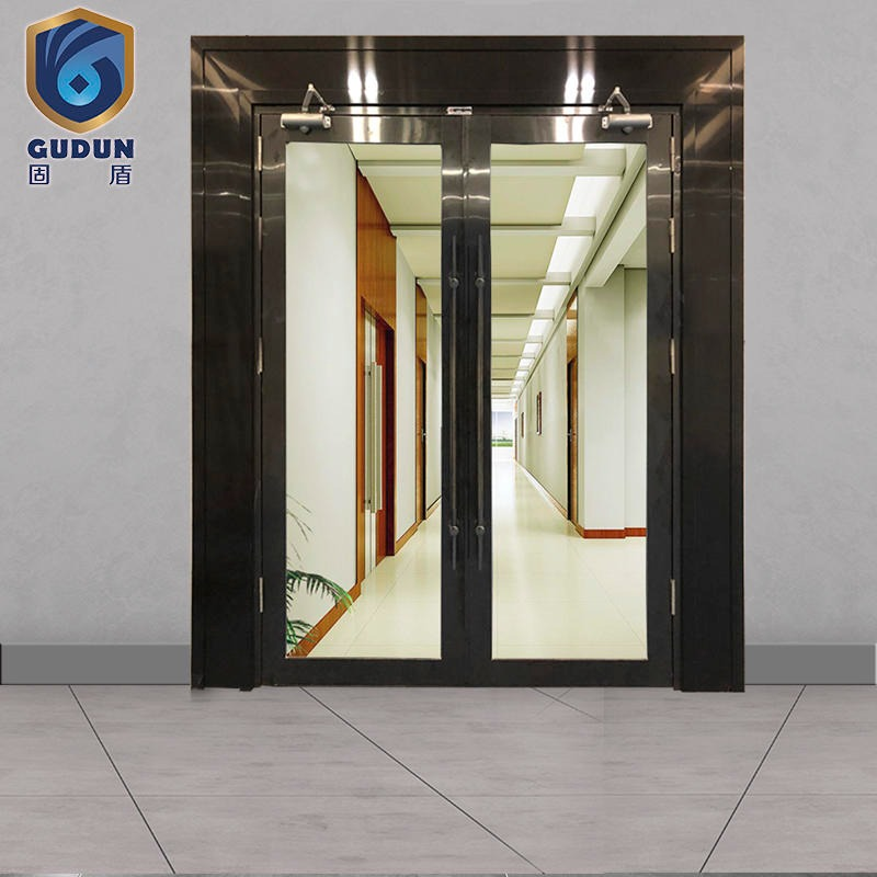 Solid shield industrial promotion glass fire door class a glass fire door S mark 3C mark