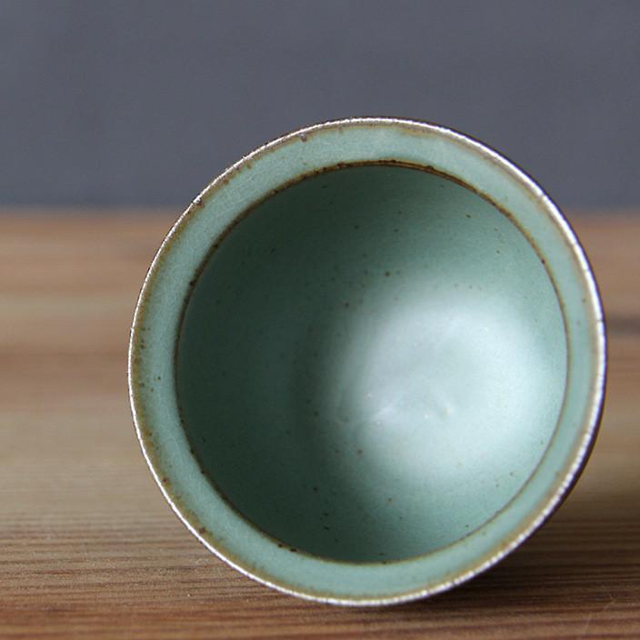 粗陶窑变单杯日式复古柴烧个性茶杯陶瓷手工品茗杯功夫茶具普洱杯