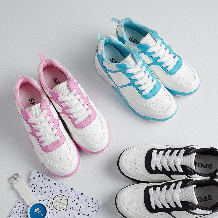 Spring 2019 new women's running shoes, Korean version of ulzzang casual shoes, harajuku students' versatile sneakers