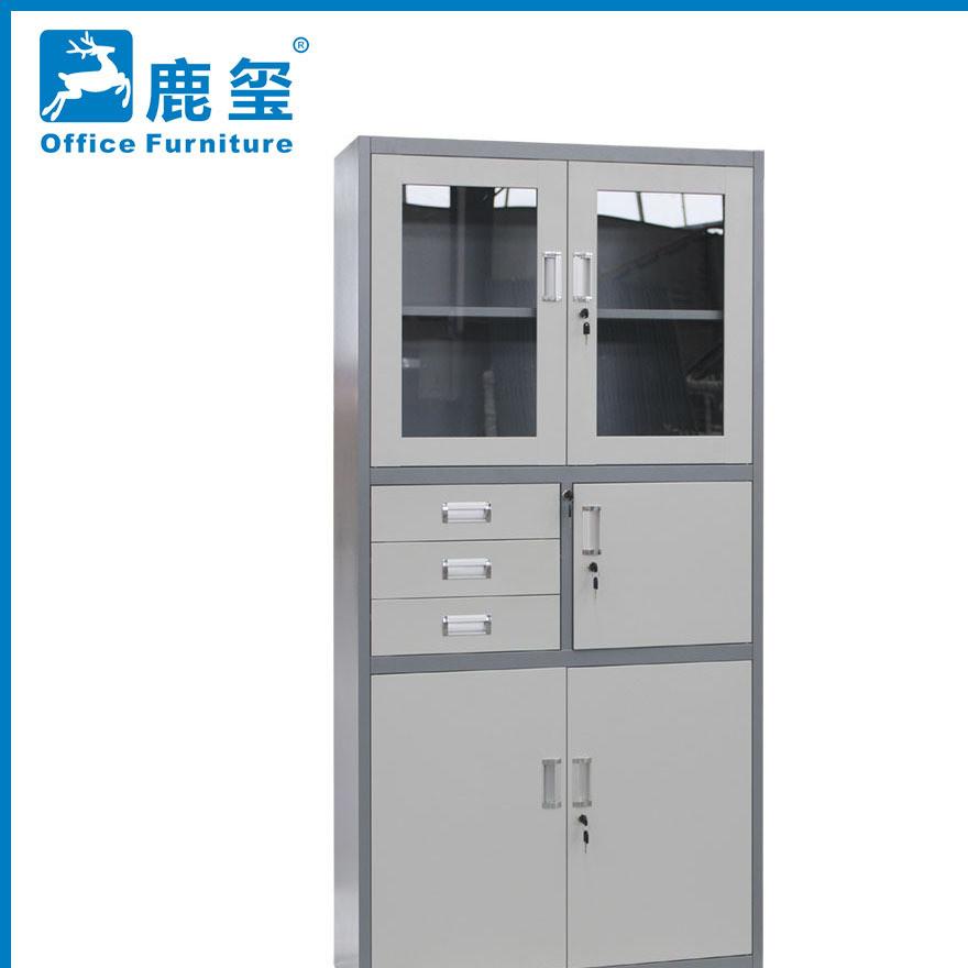 厂家直销 偏三斗文件柜 档案柜 钢制办公柜 资料密码办公柜