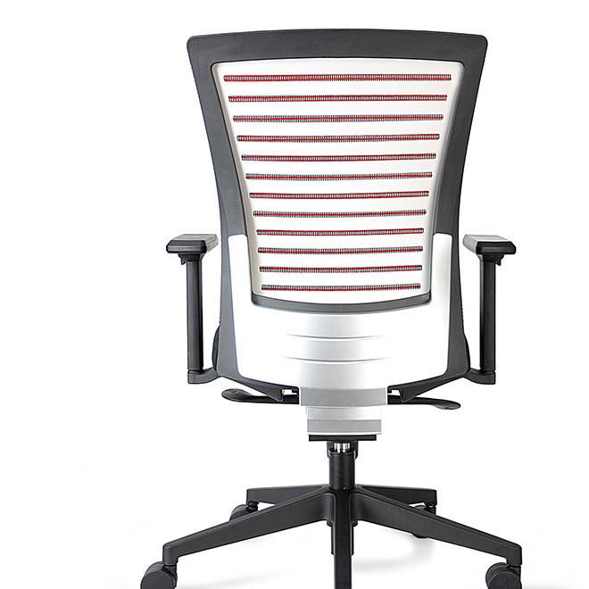 2019高级时尚新款银色装饰盖办公椅职员椅转椅网椅批发