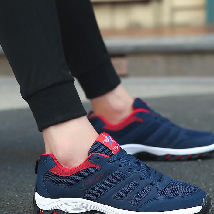 男鞋2019新款秋季运动鞋旅游鞋跑步透气板鞋休闲网鞋户外鞋子批发