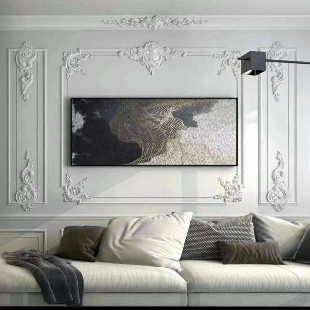 室内沙发背景墙grg,文化砖,罗马柱,背景墙,石膏模具