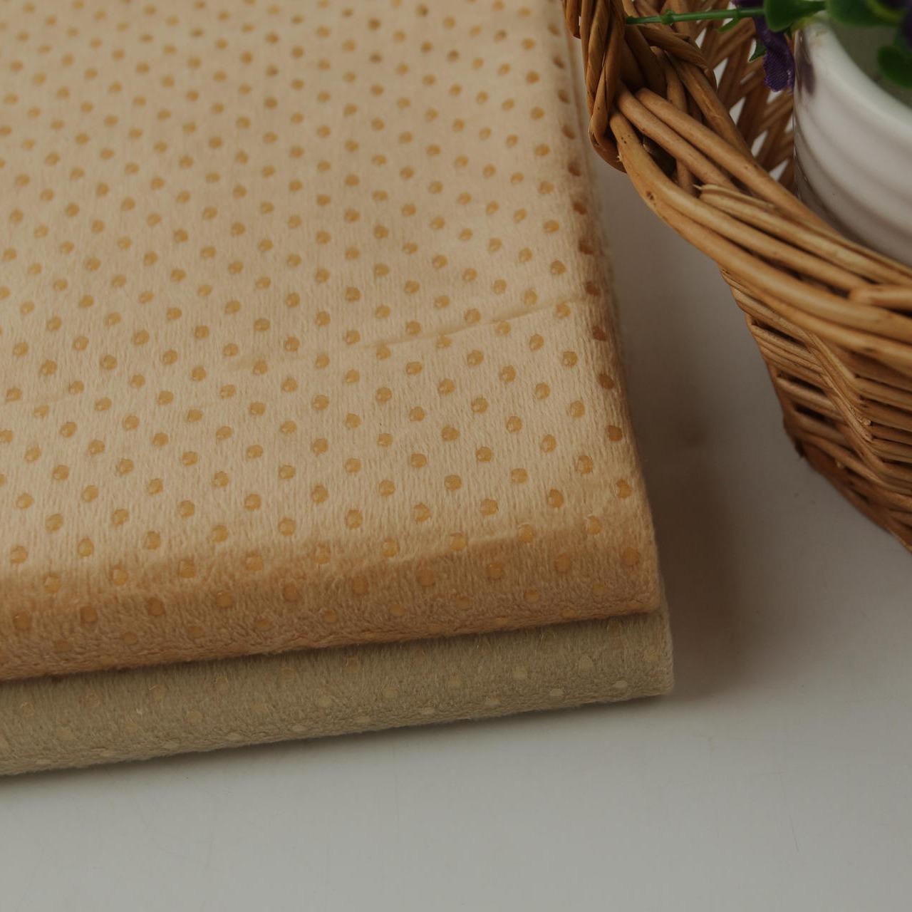 自产自销各种规格短毛绒硅胶防滑布 沙发婴儿鞋垫滴塑止滑面料
