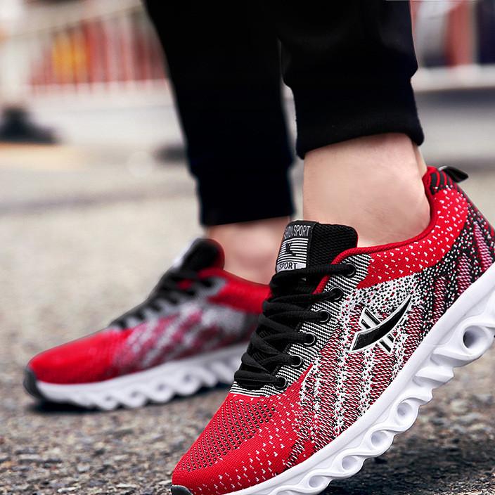 爆款运动鞋 户外男鞋 飞织舒适跑步鞋 日常休闲鞋 速卖通专供