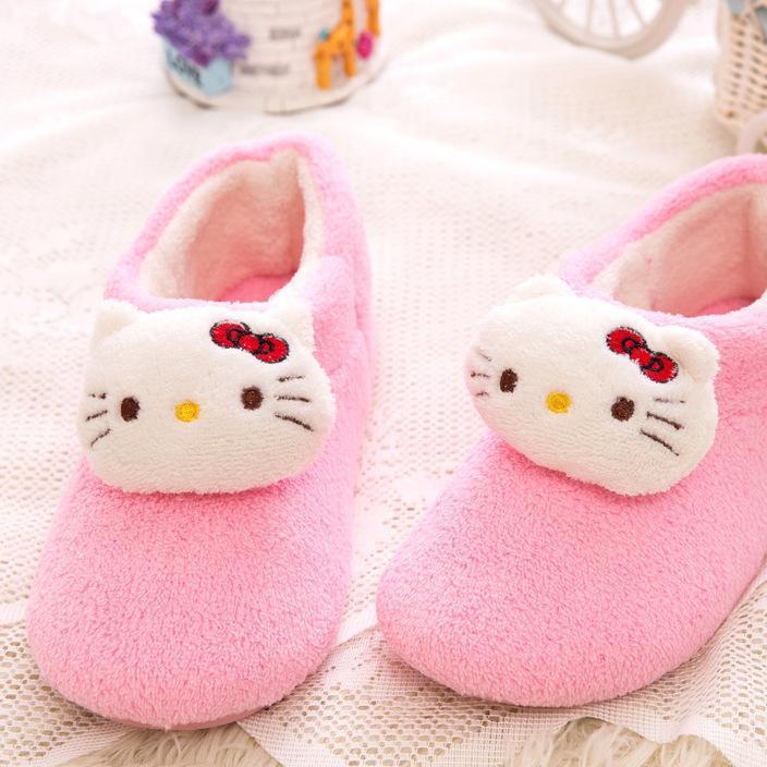 批发秋冬季猫咪保暖短棉靴女士棉鞋月子鞋孕妇鞋防水防滑家居鞋