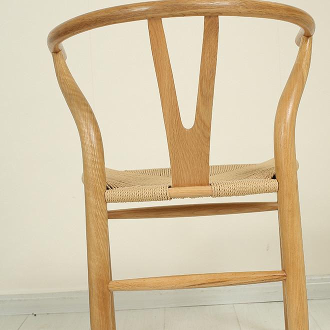 北欧木叉餐椅 实木餐椅 Y椅曲木椅 茶馆时尚休闲椅 子专业生产