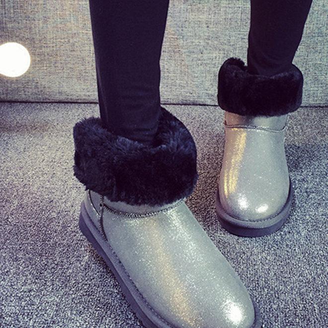 包邮2019冬季雪地靴女韩版新款雪地靴毛口短筒棉靴保暖女鞋代发