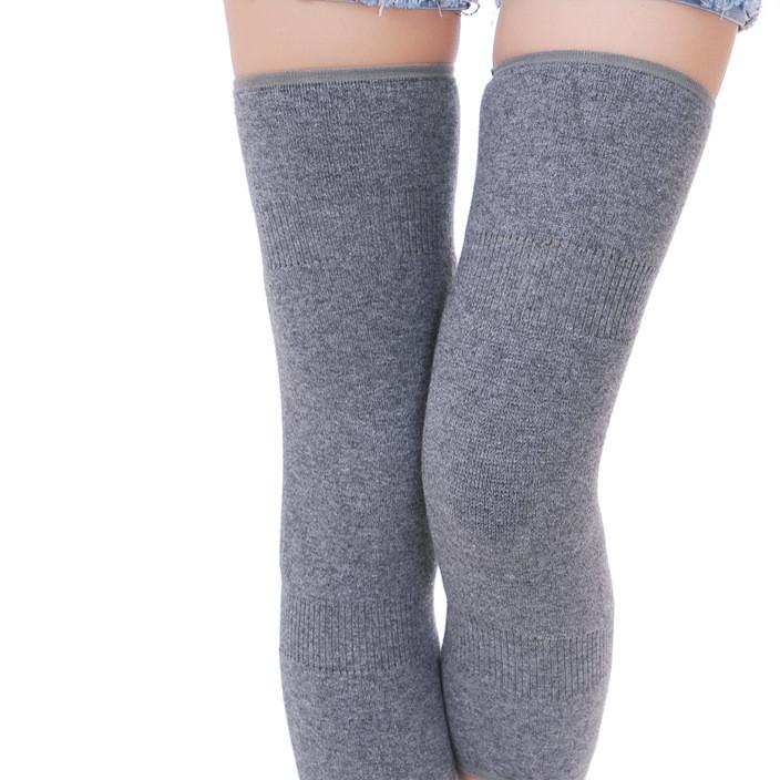 厂家直销羊绒护膝保暖透气护腿骑行保暖护具健身定制羊毛护膝
