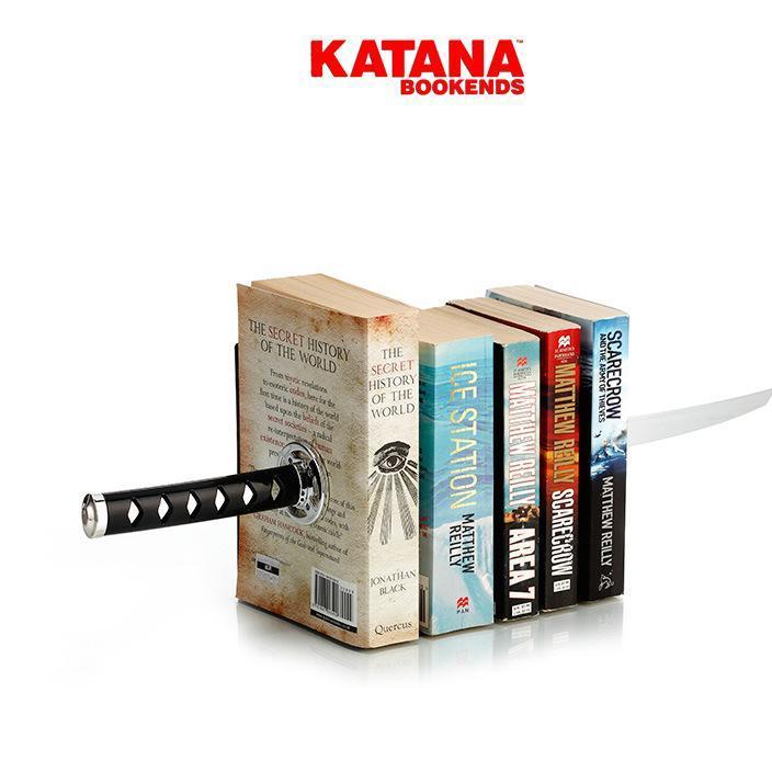 一件代发 磁力创意忍者Katana 书挡书立书靠 英国Mustard