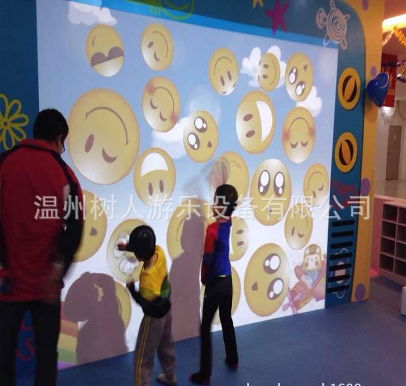 室内益智淘气堡3D情景投影,儿童互动投影设备,墙面互动亲子舞台