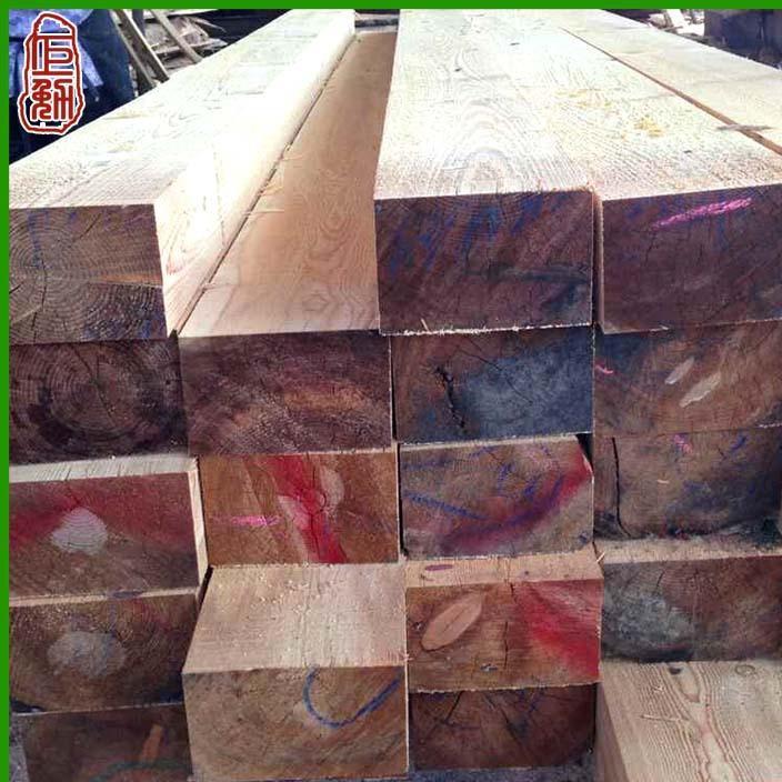 巨勉落叶松烘干实木板材 俄罗斯落叶松方木枕木 工程建筑木板材料