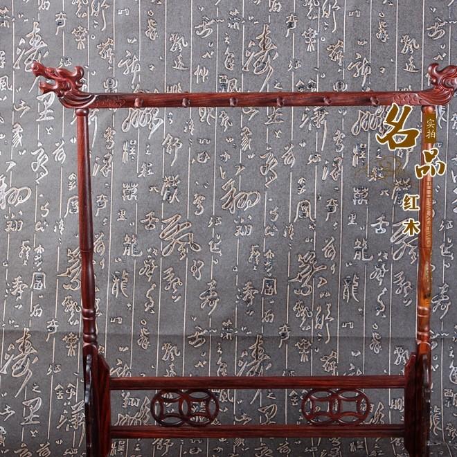 厂家直销红木红酸枝笔架 手工雕刻毛笔挂 办公书房摆件 创意礼品