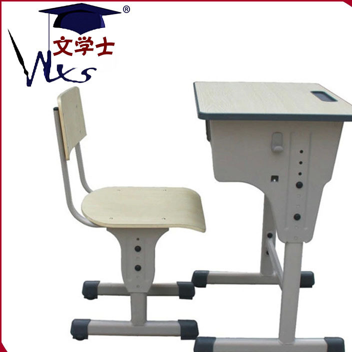 防滑外套地脚课桌椅 高品质小学生课桌椅 单人可升降学生课桌椅
