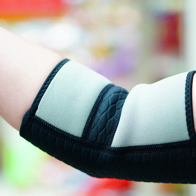 厂家直销 护肘批发 双色运动保暖护肘 篮球骑行运动护具