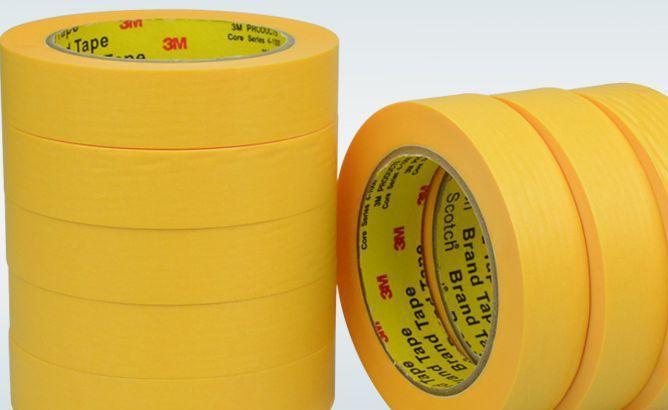 厂家直销 黄色和纸美纹纸胶带 高粘遮蔽防水美纹纸胶带常温胶带
