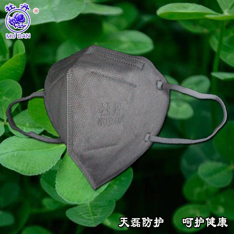 厂家直销灰色pm2.5防护口罩 无阀防护口罩 折叠无阀防护口罩 批发