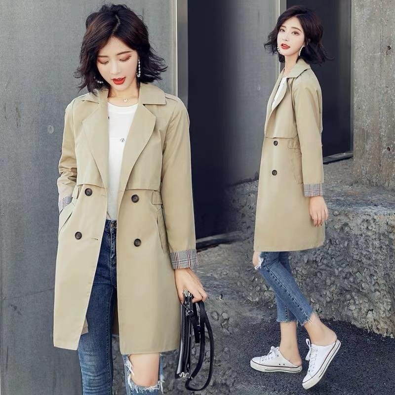 Guangzhou first brand fifth trench coat, shop genuine, brand discount, inventory women's discount women's wholesale