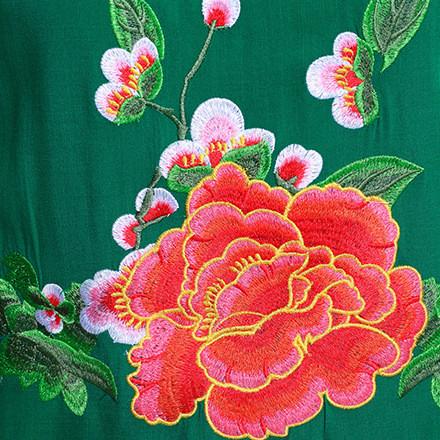2019新款夏季女装 棉麻刺绣修身舒适短袖上衣 女式T恤一件代发