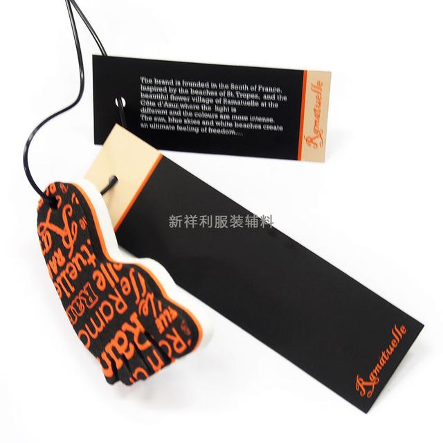 Clothing tag printing factory high-end tag printing men and women's clothing tag printing custom