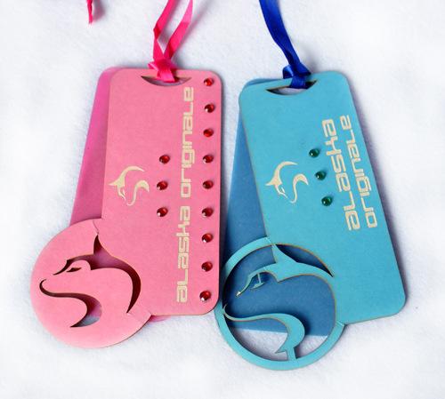 Cartoon clothing tag custom hollow pattern tag children's wear tag printing factory custom