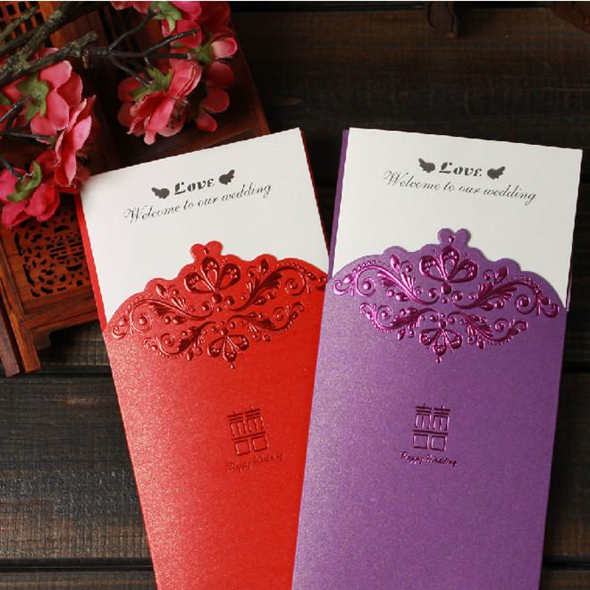 厂家直销婚庆用品信封式请贴请柬韩式创意婚礼结婚请帖立体邀請卡