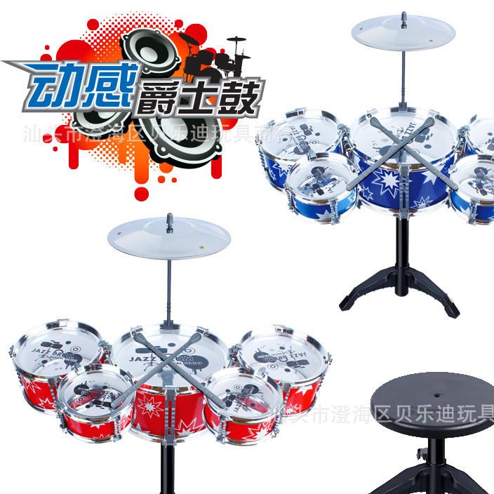 Children's tuba 5 drum set drum toy percussion set music drum drum wholesale toys