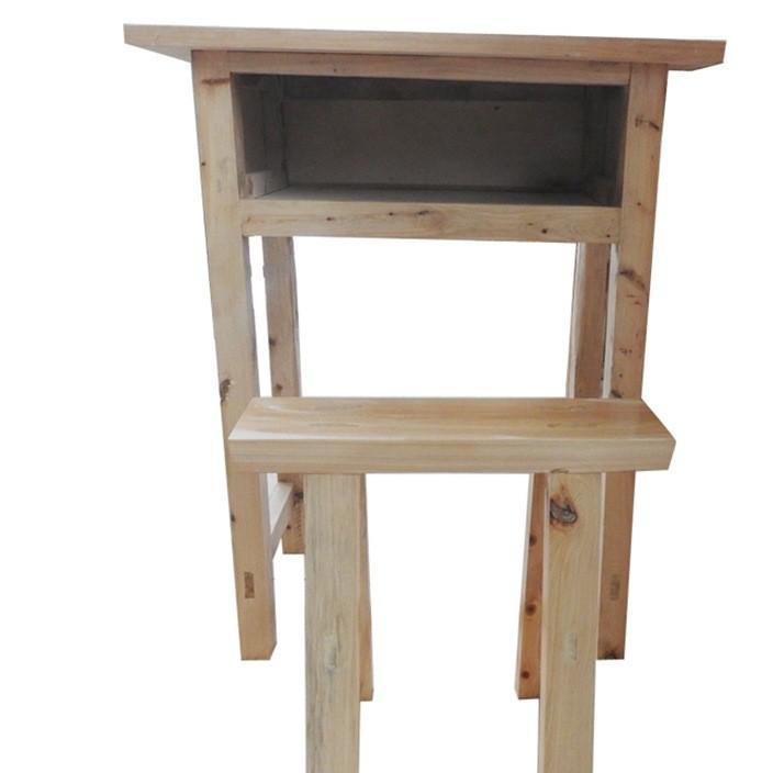 厂家直销实木儿童写字书桌椅子 中小学生课桌椅单人课桌可定制