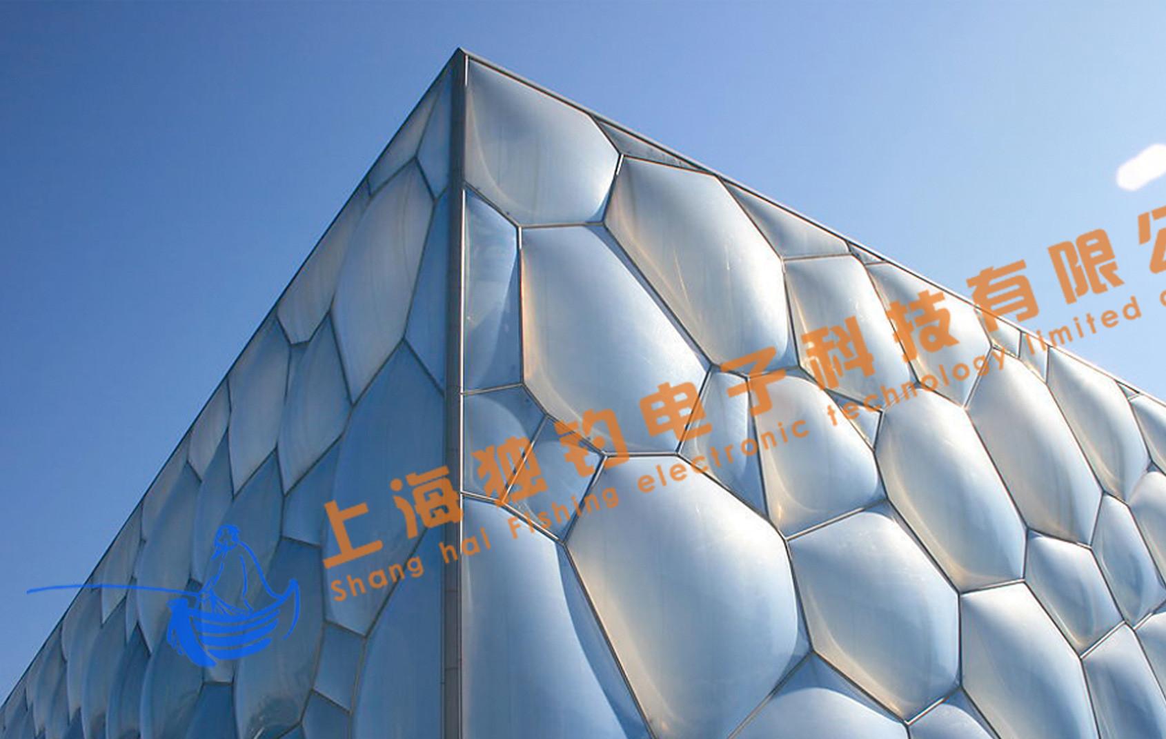 上海独钓电子科技--投影设备----北京水立方巨幅广告应用