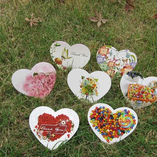 精美浪漫小清新心形小贺卡留言卡祝福卡片表白卡玩具厂家货源批发